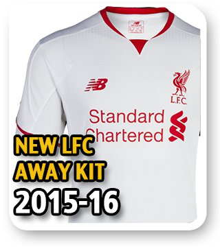 Official LFC Away Kit 2015/16