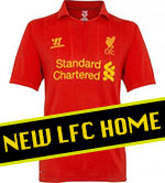New Liverpool FC Official Home Shirt 2012-13
