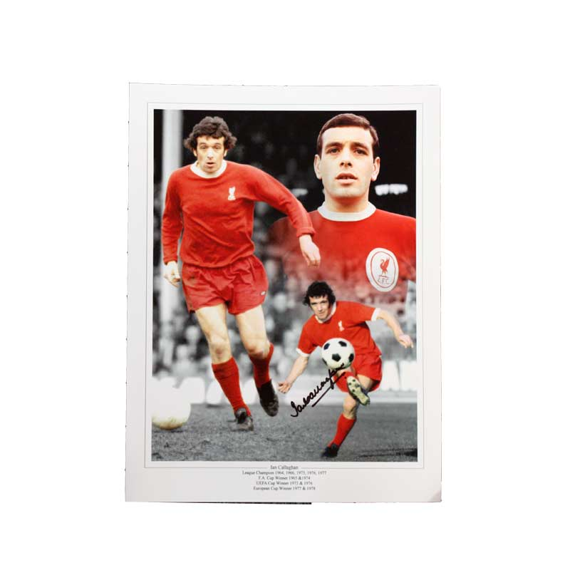 Ian Callaghan Signed Liverpool Photo