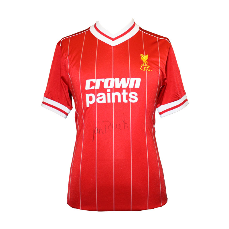 Ian Rush Signed Liverpool 1984 European Cup Shirt