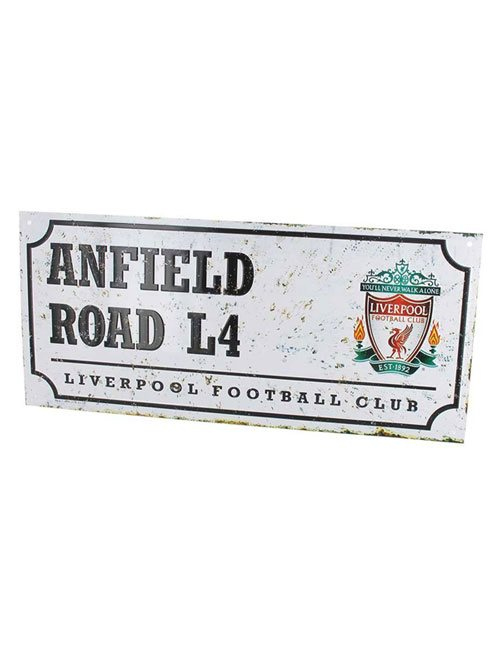 Liverpool FC Retro Street Sign