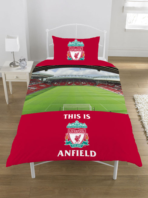 Liverpool FC Anfield Single Duvet Cover & Pillowcase Set