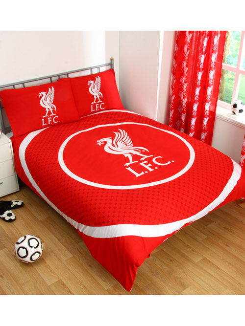 Liverpool FC Bullseye Double Reversible Duvet Cover and Pillowcase Set