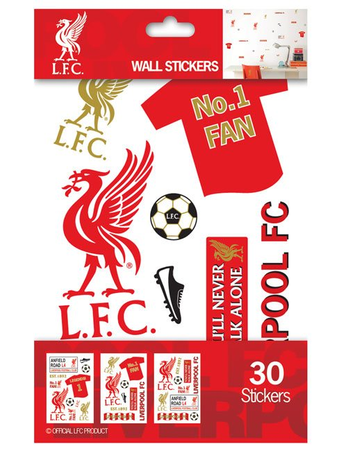 Liverpool FC Wall Stickers - 30 Pieces
