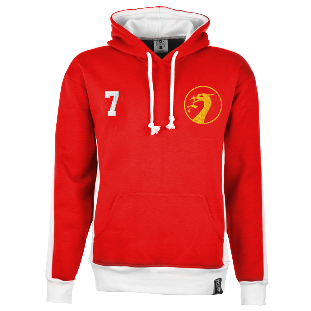 Liverpool Number 7 Retro Hoodie - Red/White