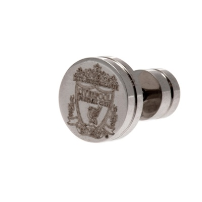 Liverpool Round Crest Stud Earring - Single - Stainless Steel