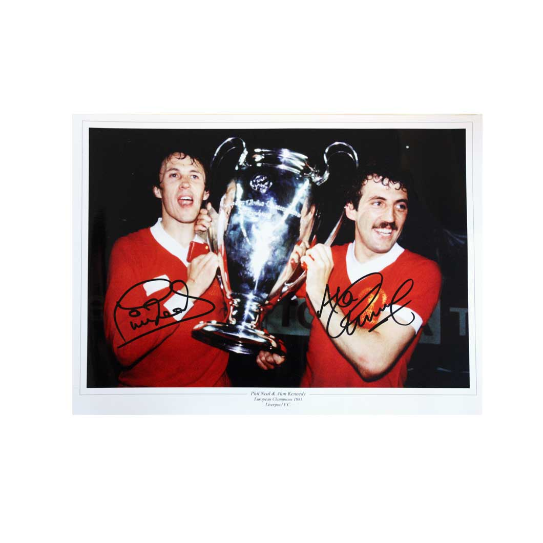 Phil Neal And Alan Kennedy Signed Liverpool Photo
