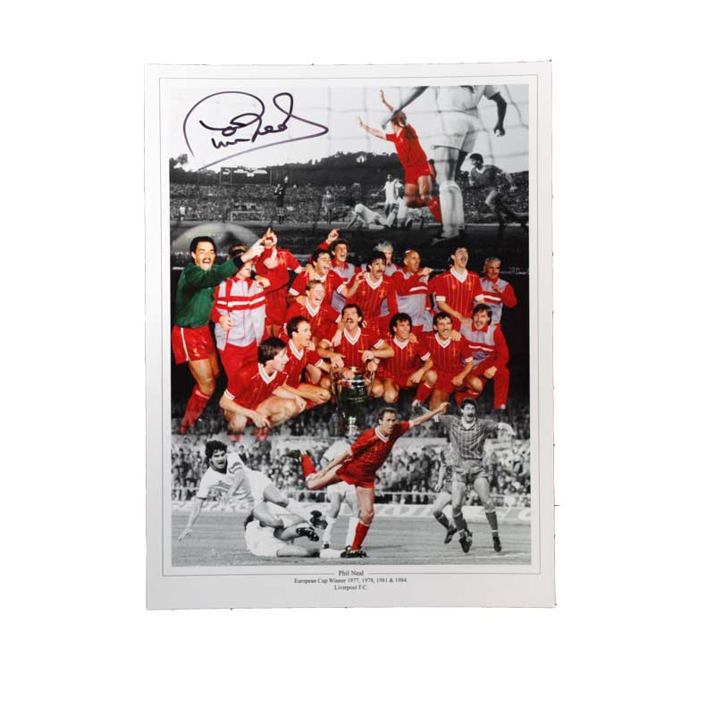 Phil Neal Signed Liverpool Photo