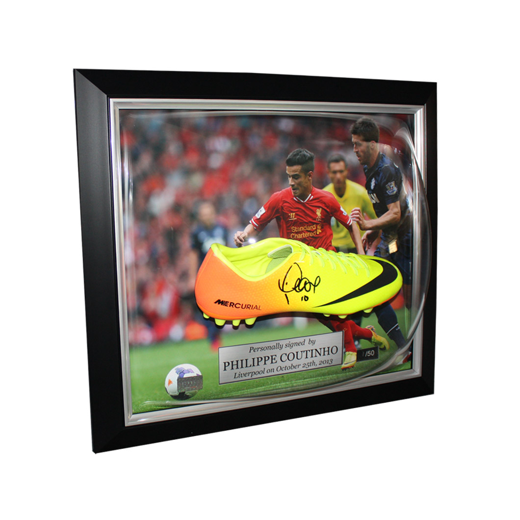 Philippe Coutinho Signed and Framed Nike Boot