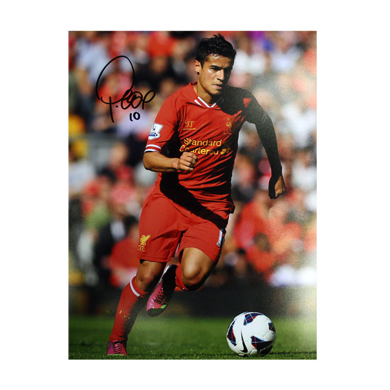 Philippe Coutinho Signed Liverpool Photo