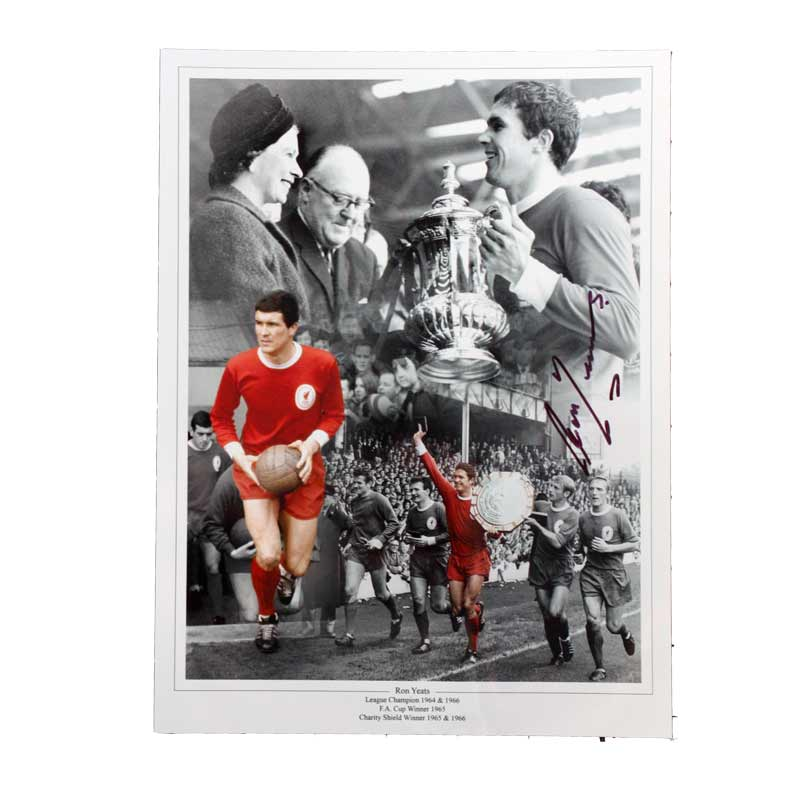 Ron Yeats Signed Liverpool Photo