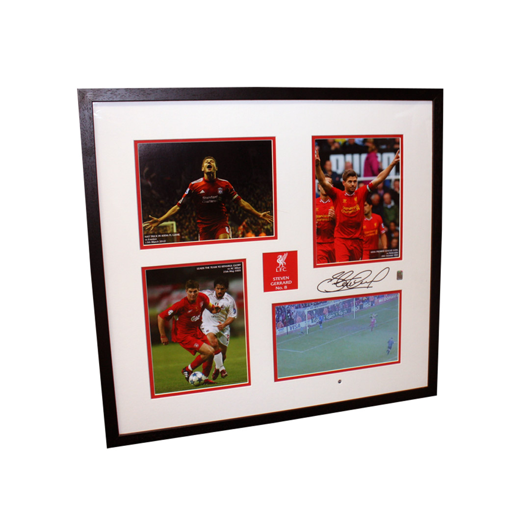 Steven Gerrard Signed Liverpool Mount in Official Liverpool FC Video Frame
