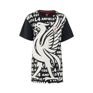 LFC Boys Black Burrows Tee