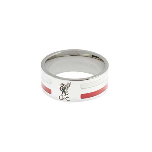 LFC Mens Colour Stripe Band Ring