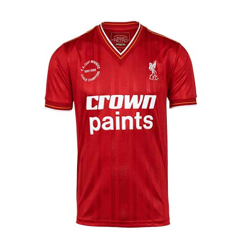 Liverpool FC 85/86 Double Winners Retro Home Shirt