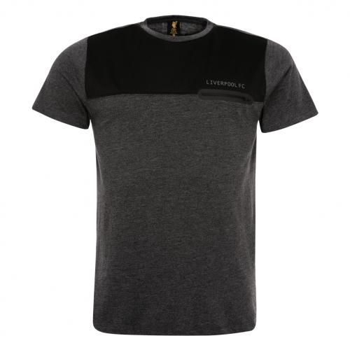 Charcoal Mesh Pocket T-Shirt