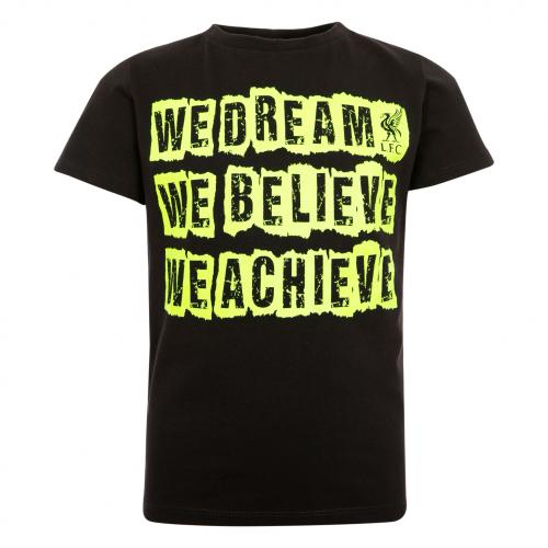 LFC Boys Black We Dream We Believe Tee