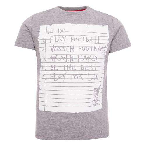 LFC Boys Grey To Do Tee
