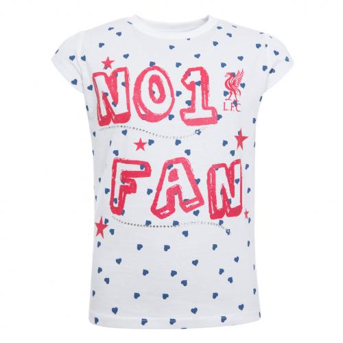 LFC Girls No 1 Fan Tee