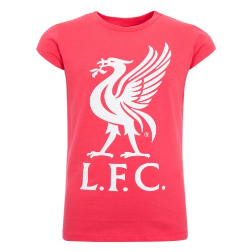 LFC Girls Pink Liverbird Tee