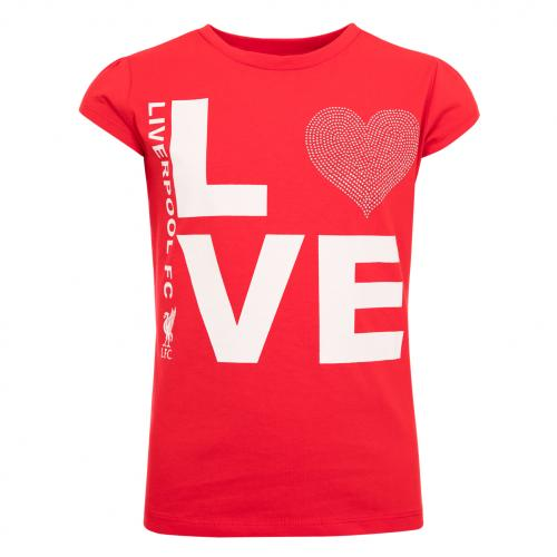 LFC Girls Red Love LFC Tee