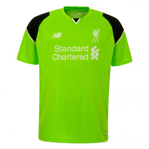 LFC Kids Short Sleeve Home Goalkeeper Shirt 16/17