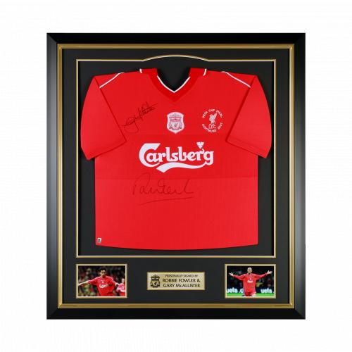 LFC McAllister and Fowler Signed Framed Shirt