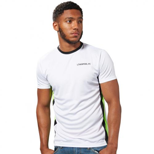 LFC Mens White Side Panel Tee