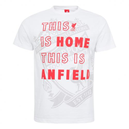 LFC Mens White This Is Home Tee