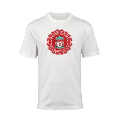 LFC Personalised Crest Mens T-Shirt