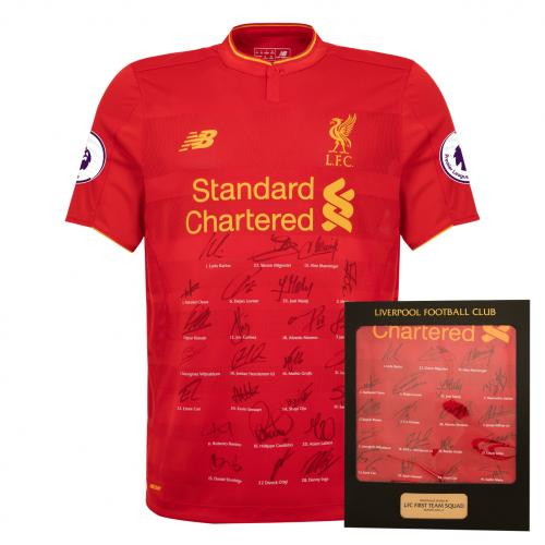 Liverpool FC 2016-17 Official Full Squad Signed Shirt