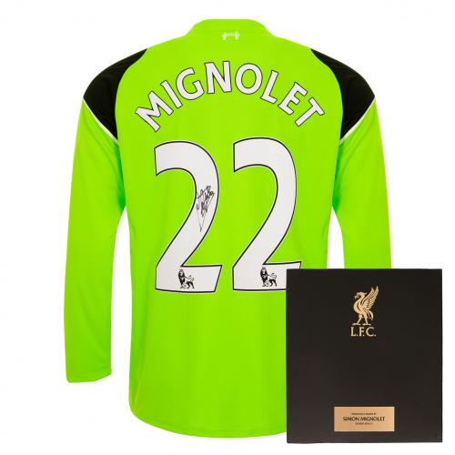 Signed SImon Mignolet Boxed Shirt