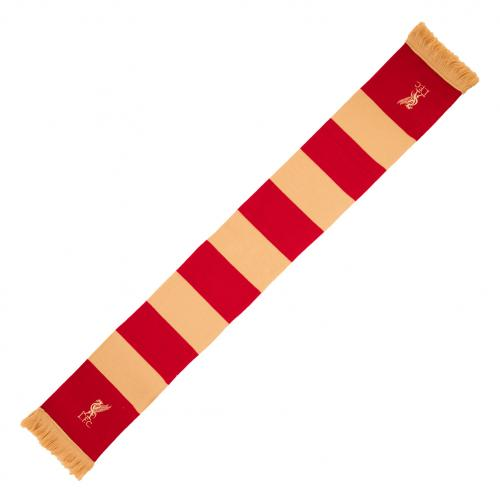 Liverpool FC Red & Gold Bar Scarf