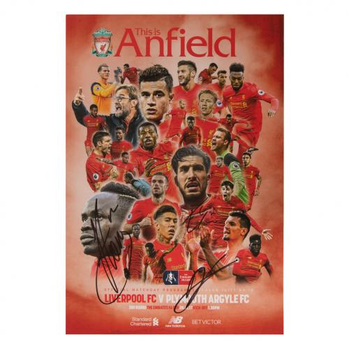 Signed Liverpool v Plymouth Programme