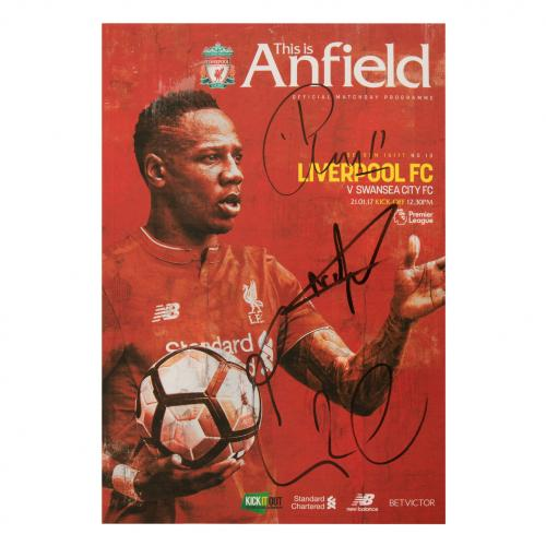 Signed Liverpool v Swansea City Programme