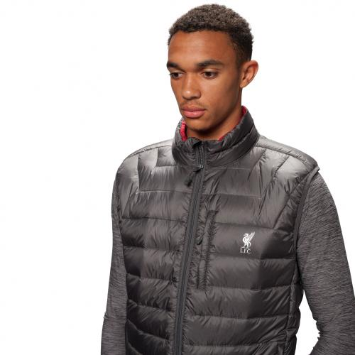 LFC Mens Charcoal Down Filled Gilet