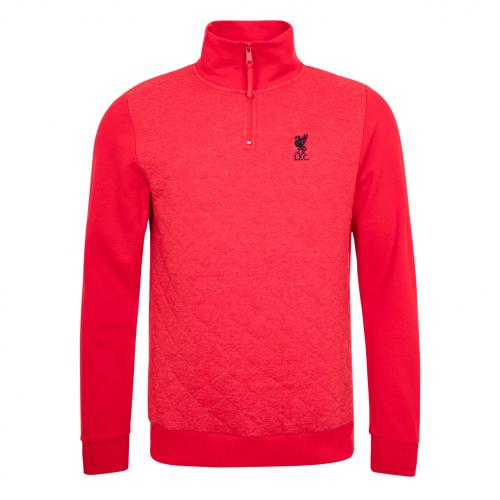 LFC Mens Red 1/4 Zip Quilted Jumper