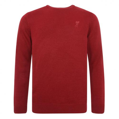 LFC Mens Red Acrylic Crew Neck Knit Jumper