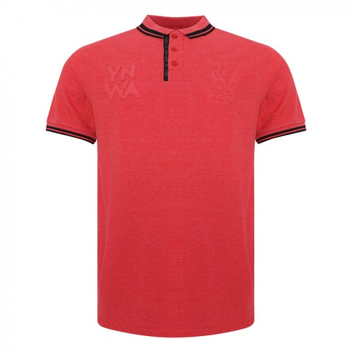 LFC Mens Red Marl Embossed Polo