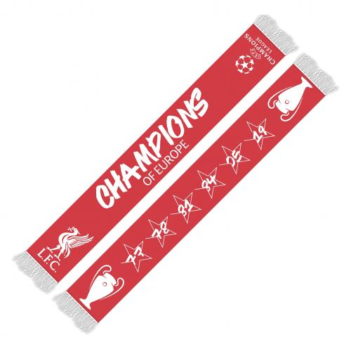 LFC UCL 6 Time Champions Scarf
