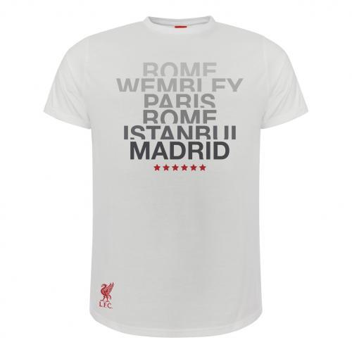 Liverpool FC NB 6 Times Junior Euro 18//19 Black T-Shirt LFC Official
