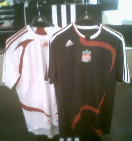 reputable site f9c91 ae188 New Liverpool FC adidas kits 2007/08 - away and Euro away ...