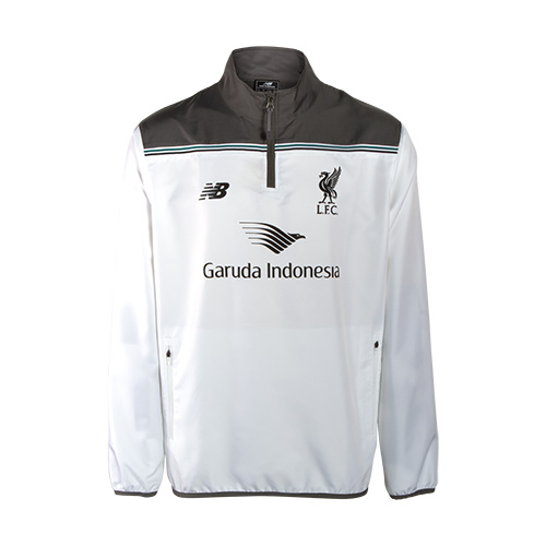 LFC Mens White Third Training 1/2 Zip Windblocker 15/16