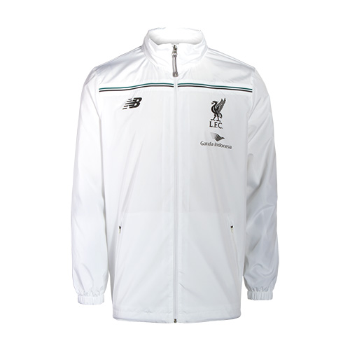 LFC Mens White Third Training Rain Jacket 15/16