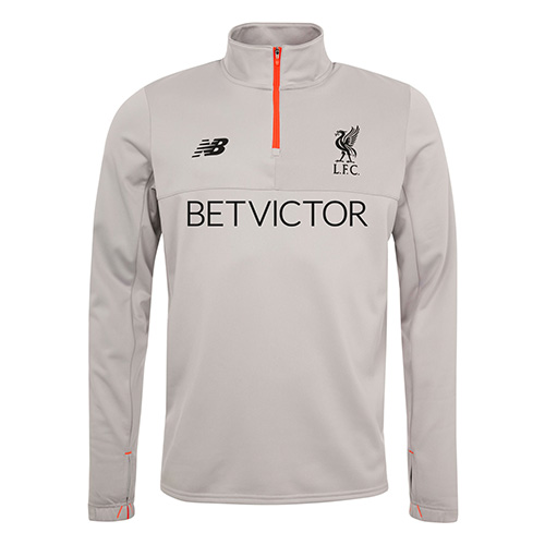 Grey Klopp LFC Training Top with Quarter Zip - 16/17