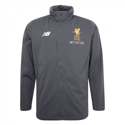 2017-18 LFC Grey Training Rain Jacket, Mens
