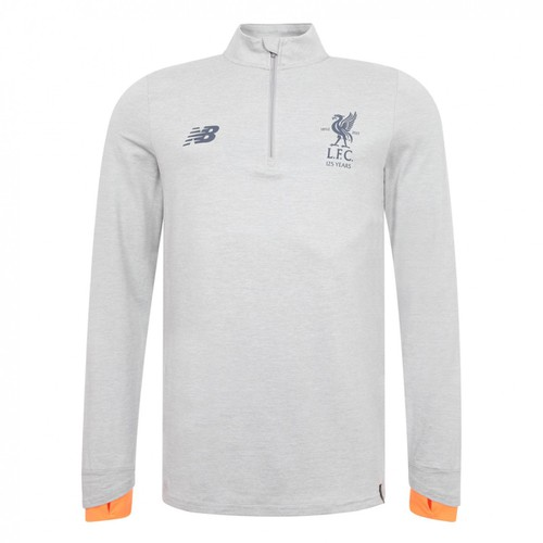2017-18 Kids LFC Grey with Orange cuffs Klopp style Training Top