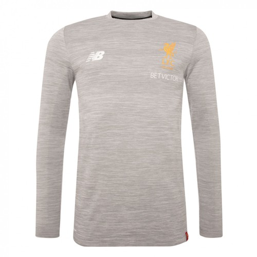 Grey Long Sleeved LFC Training Jersey