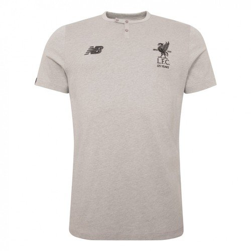 LFC Junior Grey Cotton T-Shirt 17/18