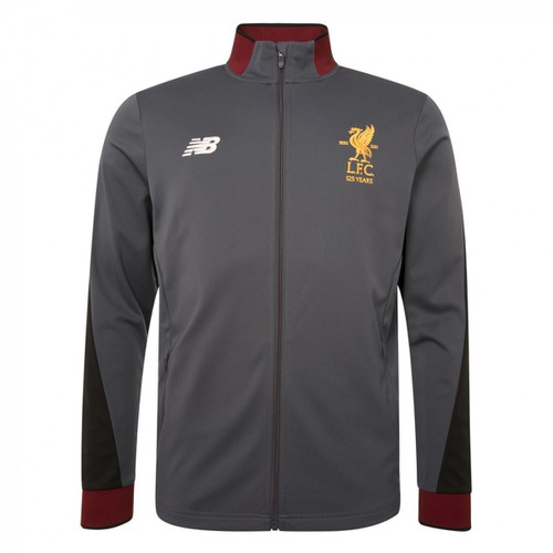 Kids Grey LFC Tracksuit Jacket 17/18
